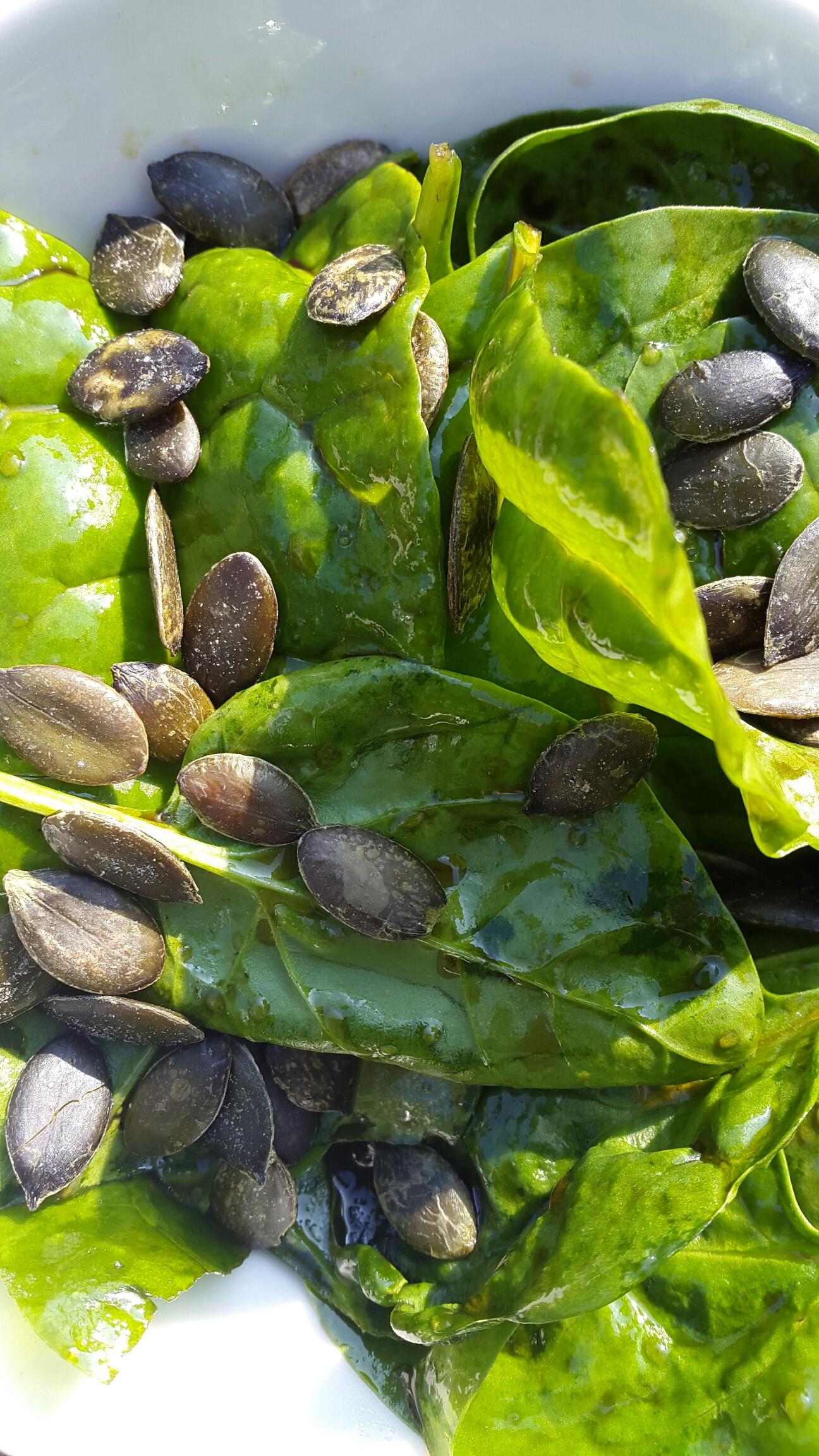Noch grüner: Spinatsalat