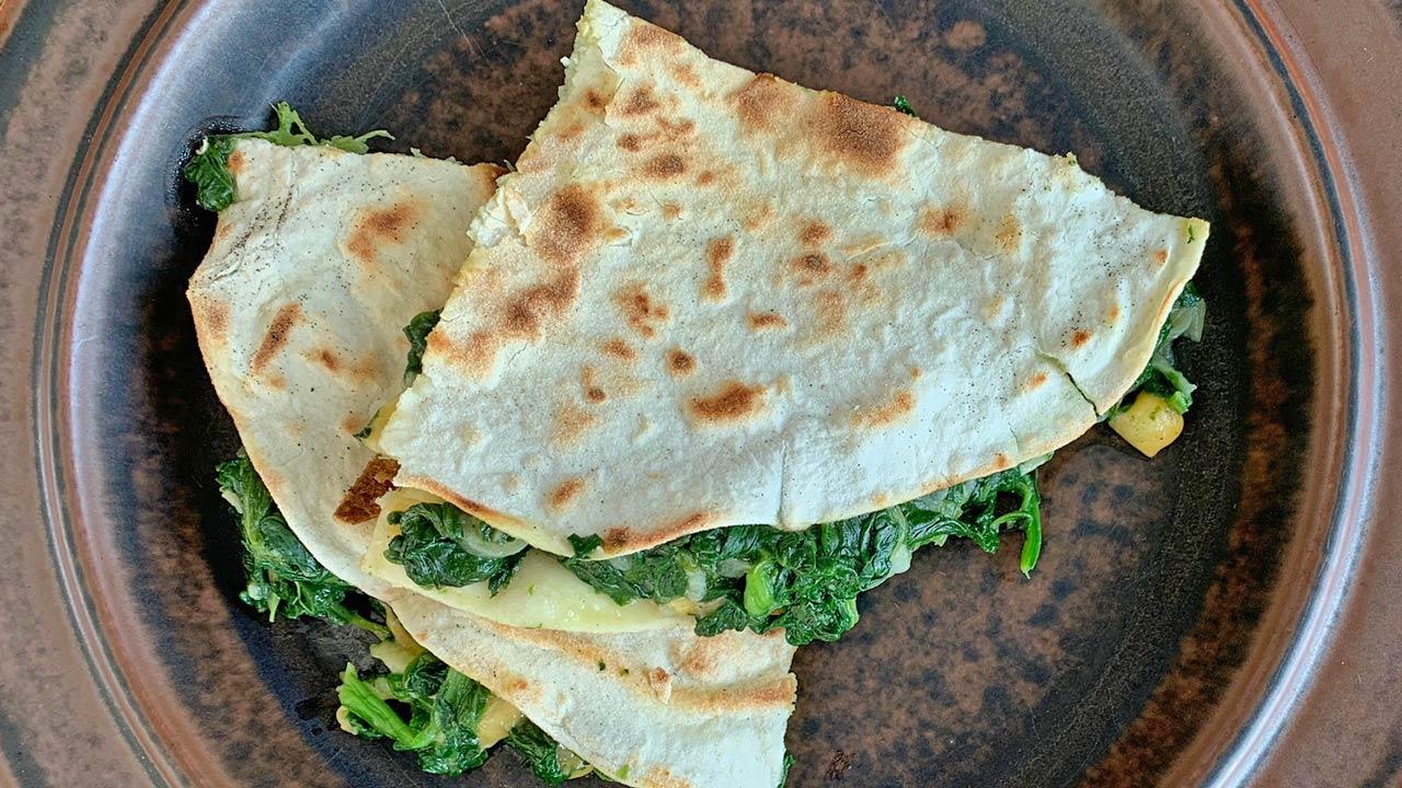 Spinat-Käse-Tortilla